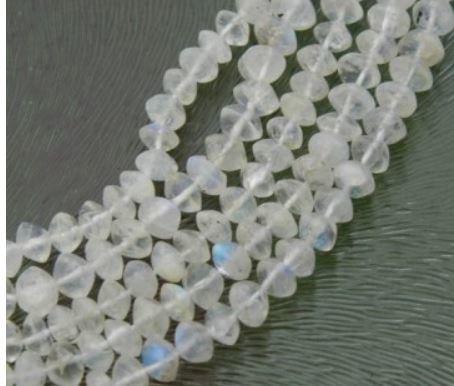 Bicones Blanc Mat  Facettes  4mm / 50 pcs /  KD339