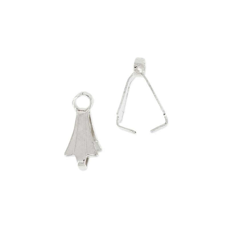 Attache pour pendentif argent 10mm / 10 pièces  / KD24706