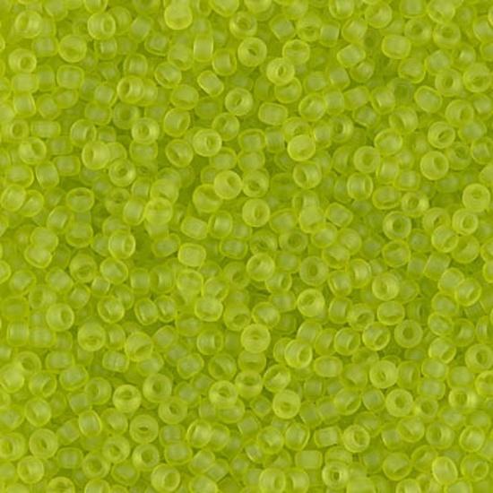 Miyuki Rocaille  11/0  - Nr  143FR  - 10 grammes - Matte Transparent Chartreuse