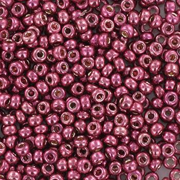Miyuki Rocaille 11/0 Nr 4219 - 10 gram / Silverlined alabaster dyed dark rose