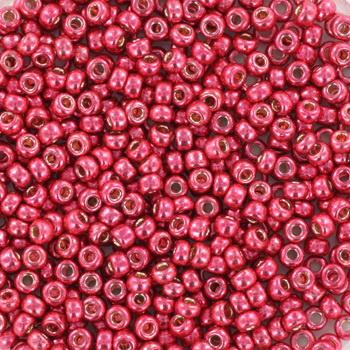 Miyuki Rocaille  11/0 -  Nr 4211 -  10 gram - durac. galvanized light cranberry