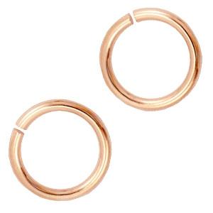 12mm Enkel ringetjes  DQ  Rosé Goud / 28 stuks / KD37275
