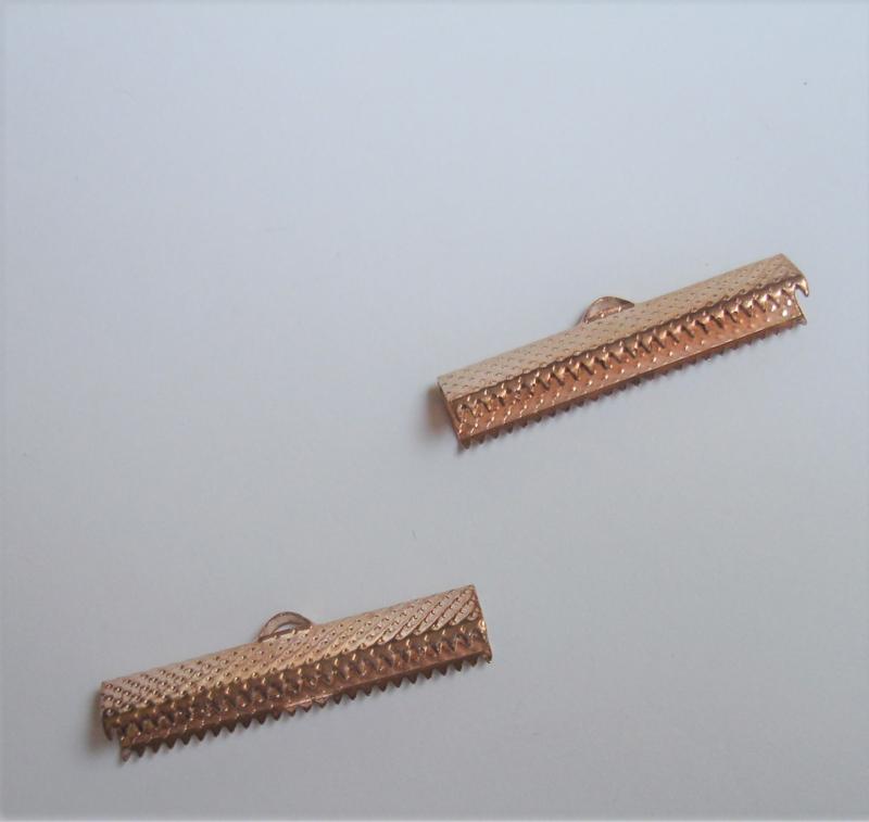 Lintklem Rose goud 0,5x3cm  / 4 stuks / KD24723