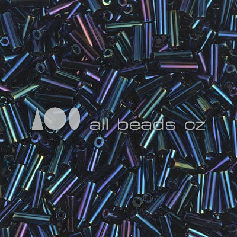 Miyuki Bugles 6mm Metallic Dk.Blue Iris / 10 grammes /  KD70000