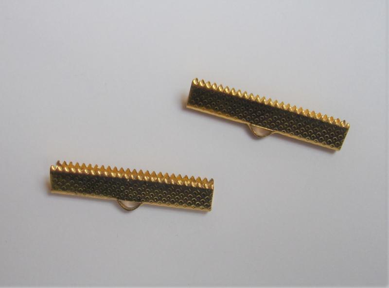 Lintklem goud 0,5x3cm  / 4 stuks / KD24724