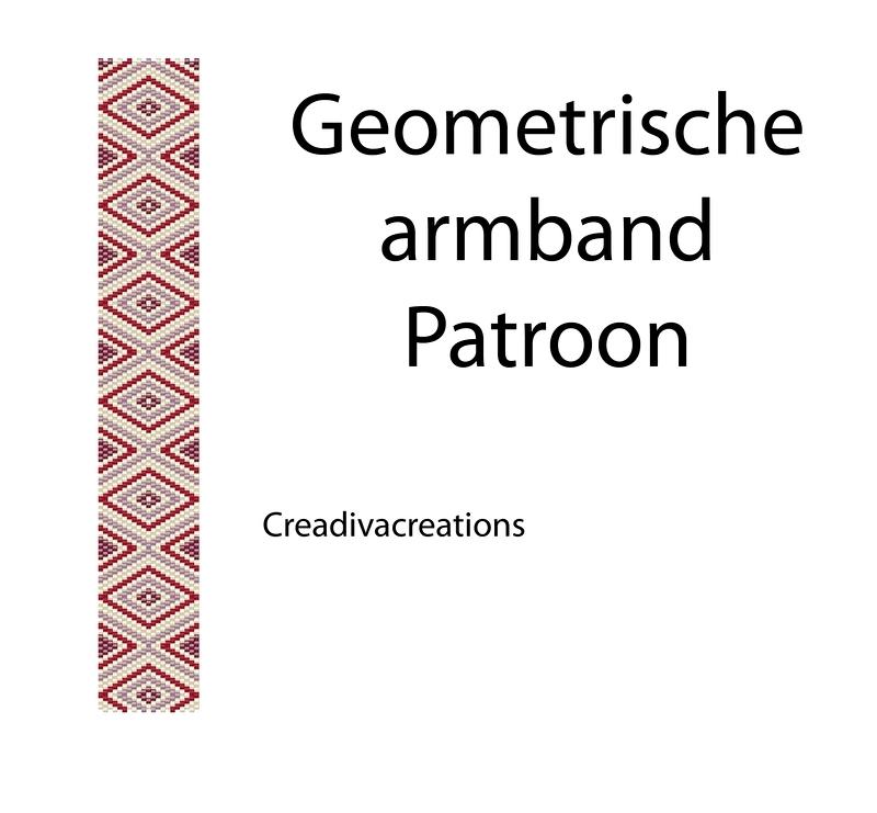 Patroon geometrische armband
