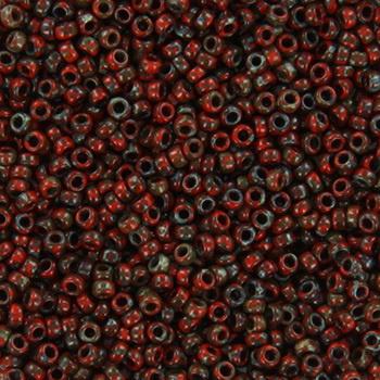Miyuki Rocaille  15/0  - Nr 4513  - 5 gram - Opaque picasso red