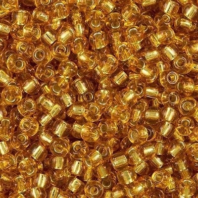 Miyuki Rocaille 8/0 Nr 0004 - 10 gram /  Dark gold silver core