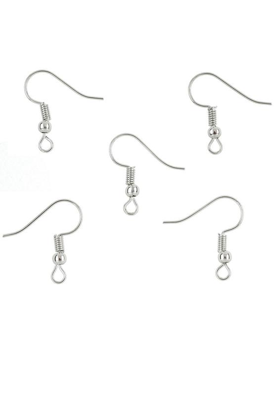 Crochets Boucles d'oreilles Argenté  / 10 pièces / KD24321