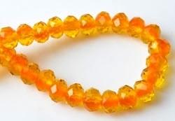 Oranje Kristal Facet 6x4mm / 20 stuks / KD10640