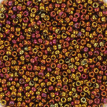 Miyuki Rocaille  15/0  - Nr 2449 - 5 gram - Transparant Tea berry gold
