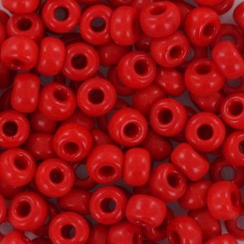 Miyuki Rocaille  6/0 -  nr 408 - 10 gram - Opaque Red