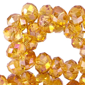 Facet  Topaas Diamond  4x3mm / Streng ± 150 stuks / KD26070
