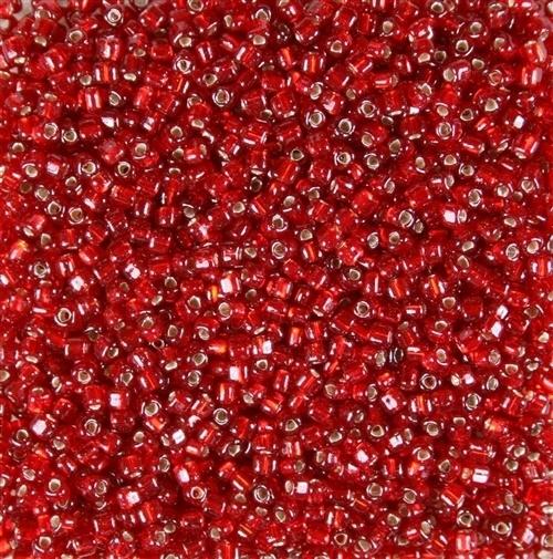 Miyuki Rocaille 8/0 Nr 0011 -10 gram / Sl Ruby Flame Red