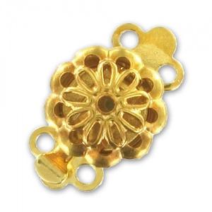 Clip Slotje Goud 14x9mm goud / Per stuk / KD381