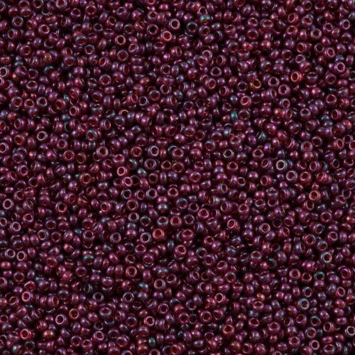 Miyuki Rocaille  11/0 Nr 0313 -  10 gram / Purple Cranberry Gold Luster
