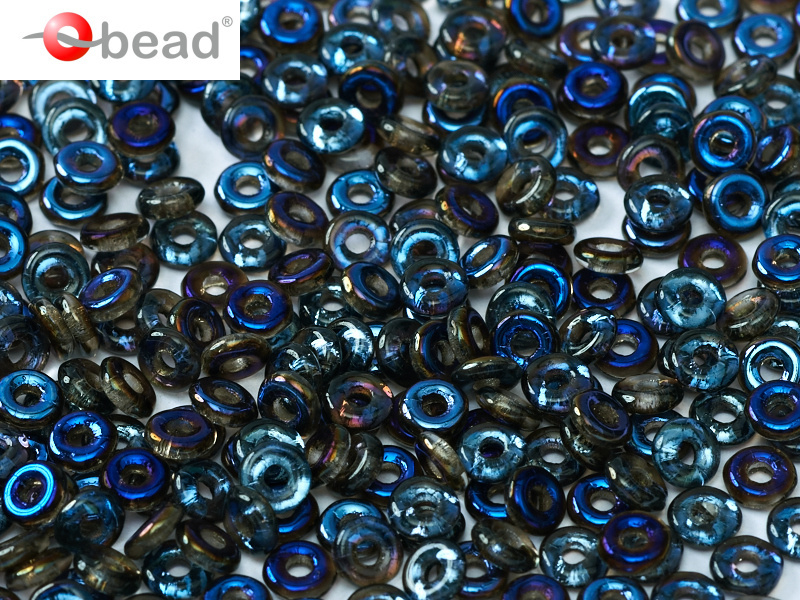 O bead 2 x 4 mm Crystal Azuro 2x4mm  / 5 gram / KD61032