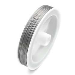 Staaldraad met coating zilver 0,38mm / 100 meter / KD217