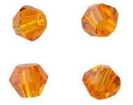 Bicones Cristal Facette Orange / 50 pcs / KD699