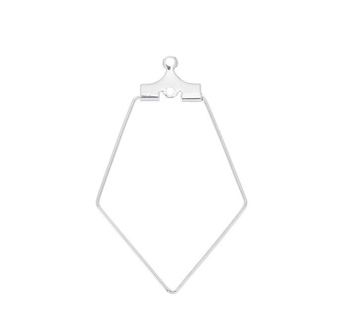 Pentagon oorbel  22x36mmm / 2 stuks / KD106