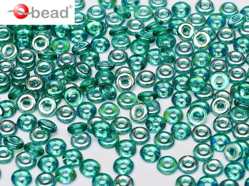 O bead Emerald AB 2x4mm / 5 gram / KD60019