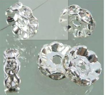 Rondel met strass 12mm / 10 stuks / KD6298
