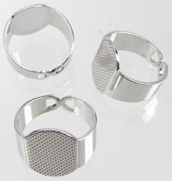 Metalen ring voor ovale plaksteen /KD3134