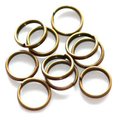 Anneaux doubles 7mm Couleur Bronze / 5 grammes / KD3140