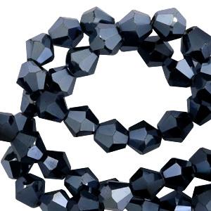 Bicones Hématite 4mm / 100 pièces / KD57586