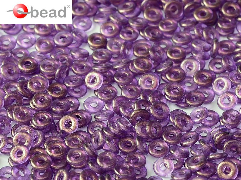 O bead  2 x 4 mm Crystal GT Magenta 2x4mm / 5 gram / KD60020