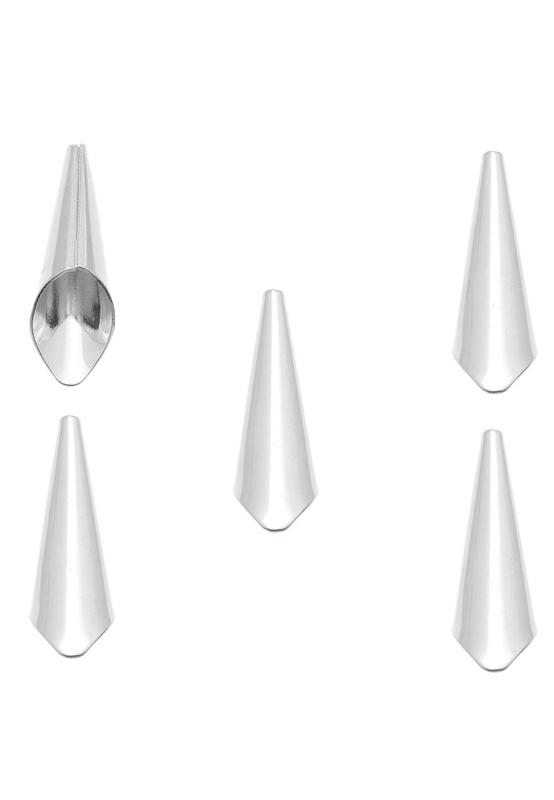 Tulp kapjes 21x7mm zilverkleur / 2 stuks / KD27579