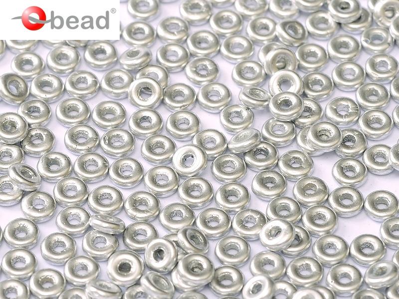 O bead  2 x 4 mm Aluminium Silver 2x4mm / 5 gram / KD61030
