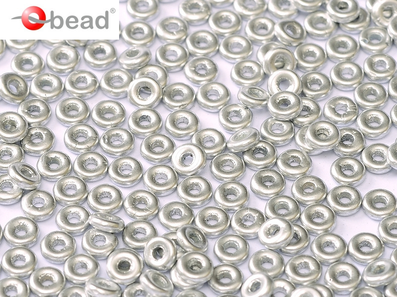 O bead  2 x 4 mm Aluminium Silver 2x4mm / 5 grammes / KD61030