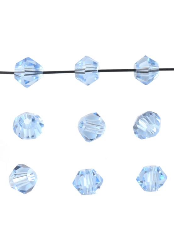Bicones Licht blauw  4mm / 100 stuks / KD20003