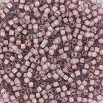 Miyuki Delica 11/0  Nr  DB-1791 - 5 grammes - White lined ab smoky amethyst