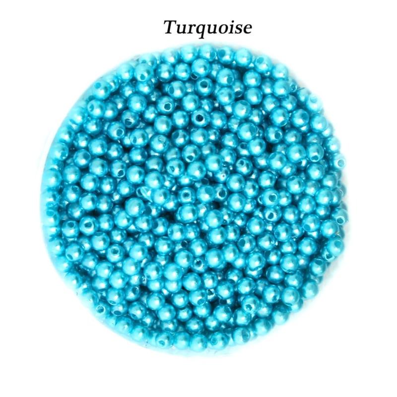 4mm Turquoise, kunststof / 200 stuks  / KD24042