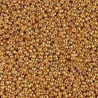 Miyuki Roc 15/0 - nr 4203F - 5 grammes - Duracoat matte yellow gold