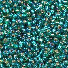 Miyuki Roc  11/0  nr 1017 - 10 grammes -Silverlined ab emerald