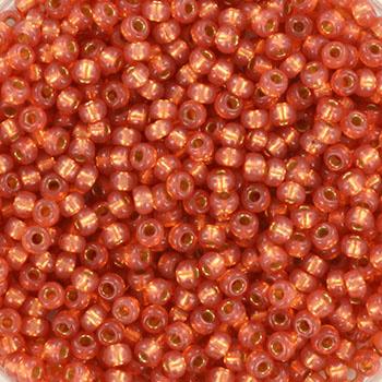 Miyuki Rocaille  11/0  - Nr  4233  - 10 gram - Duracoat silverlined dyed rose