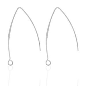 Oorbelhaakjes Zilverkleur Ca 50mm  / 2 stuks / KD66627A