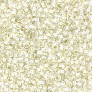 Miyuki Rocaille  15/0  - Nr 0001  - 10 gram - Silverlined Crystal