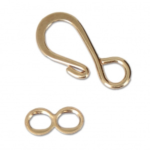 Haaksluiting  en ringetje 19mm goudkleur / 5 stuks / KD12276