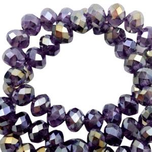Violet enrobage diamant  8x6mm / Par pièce  / KD25461
