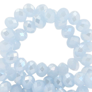 Ijsblauw 4x3mm / Ca 130 stuks / KD68089