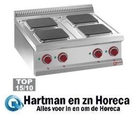 E7/4PQ7T - Elektrische kookplaat 4 vierkante platen -Top- DIAMOND Optima 700