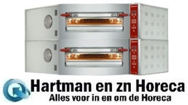 CGD/2-DG-(230/3) - Elektrische hoek pizzaoven, 2karmers, 2x 8 pizza's Ø 350 mm DIAMOND