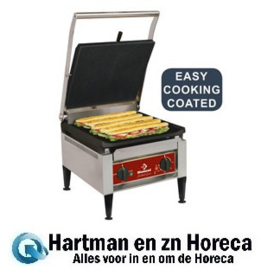 "BIGFOOD/SN  - Contact-grill ""HOOG RENDEMENT"", geëmailleerde platen DIAMOND"