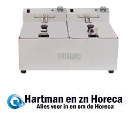 FC257 -Buffalo dubbele friteuse 2x5L 2800W