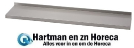 GN183 - Gastro M RVS wandplank zonder steunen 100x40 cm