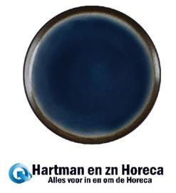 CW525 -Nomi ronde tapascoupeborden blauw-zwart 25,5cm Olympia